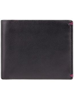 Мужской кожаный кошелек Visconti AP62 BLK/BG черный с винным