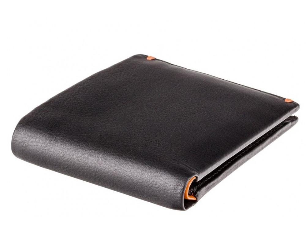 Мужской кожаный кошелек Visconti AP62 BLK/ORG черный с оранжевым - Фото № 5