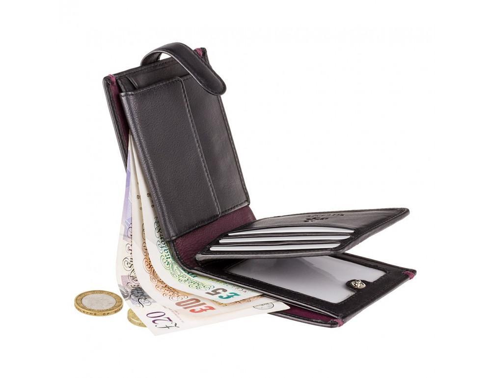 Чёрный кошелек мужской Visconti Lucerne AP63 BLK BG - Фото № 4