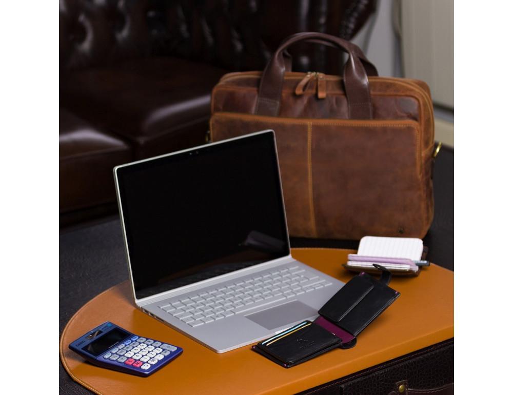 Чёрный кошелек мужской Visconti Lucerne AP63 BLK BG - Фото № 5