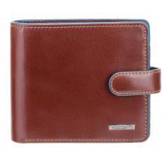 Коричневый мужской кошелёк на защёлке Visconti ALP86 IT BRN Tom