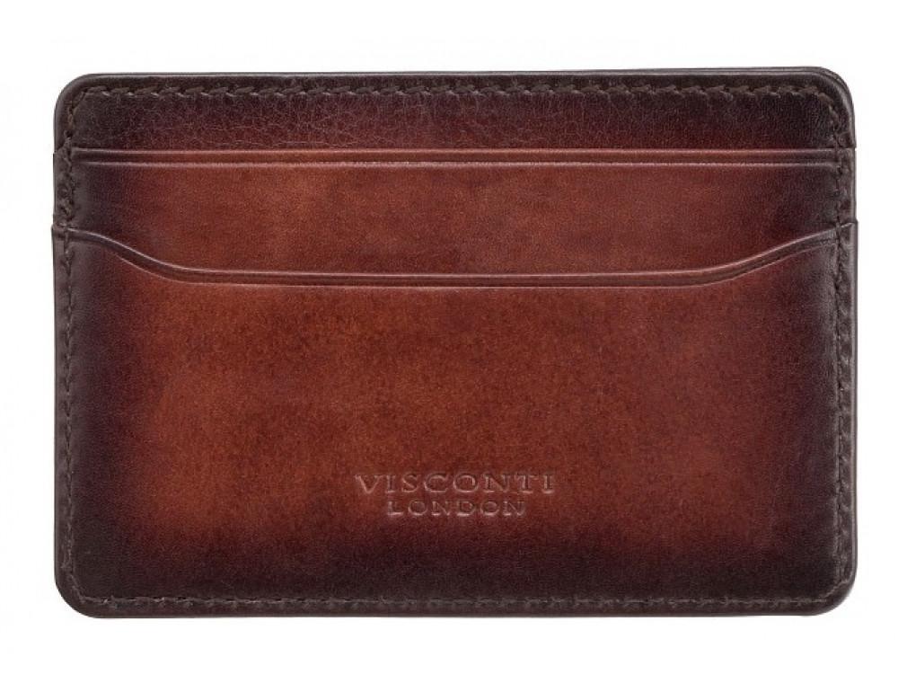 Коричневый кожаный картхоледер Visconti AT54 B/TAN Burnish Tan - Фото № 2