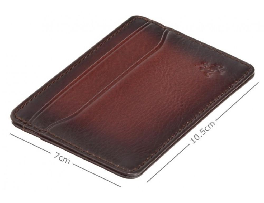 Коричневый кожаный картхоледер Visconti AT54 B/TAN Burnish Tan - Фото № 3