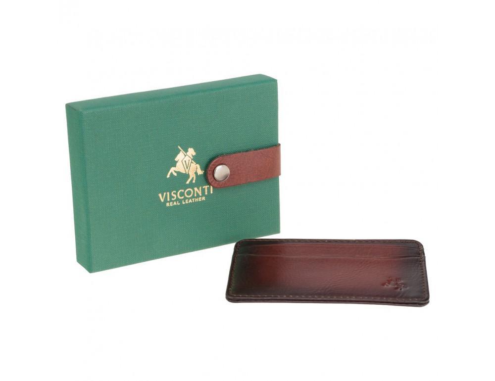 Коричневый кожаный картхоледер Visconti AT54 B/TAN Burnish Tan - Фото № 5