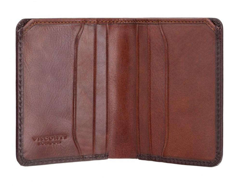 Коричневый кошелек мужской Visconti AT56 B/TAN David c RFID Burnish Tan - Фото № 2