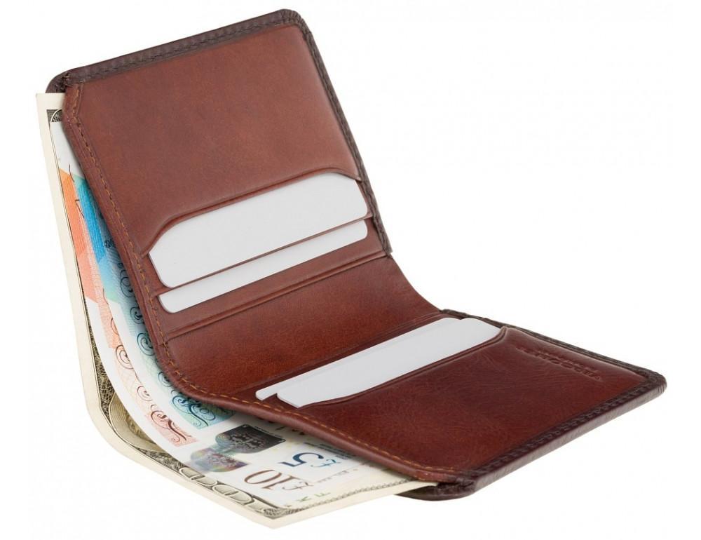 Коричневый кошелек мужской Visconti AT56 B/TAN David c RFID Burnish Tan - Фото № 3