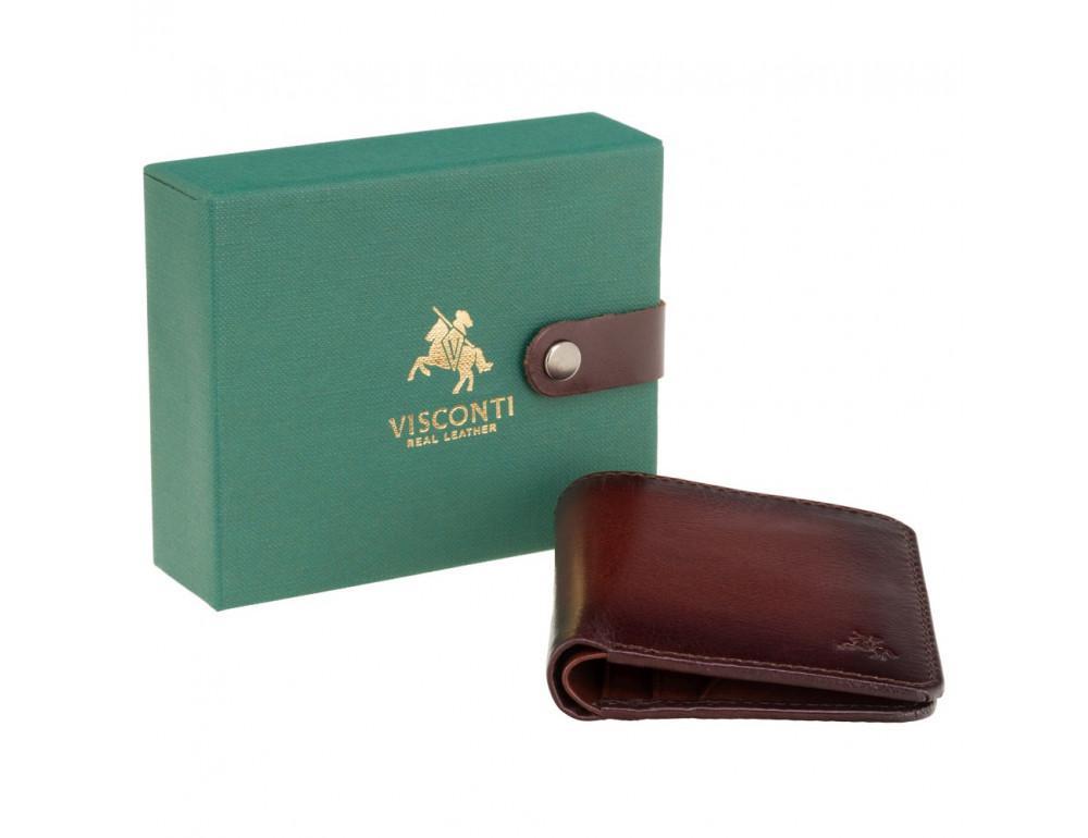 Коричневый кошелек мужской Visconti AT56 B/TAN David c RFID Burnish Tan - Фото № 5
