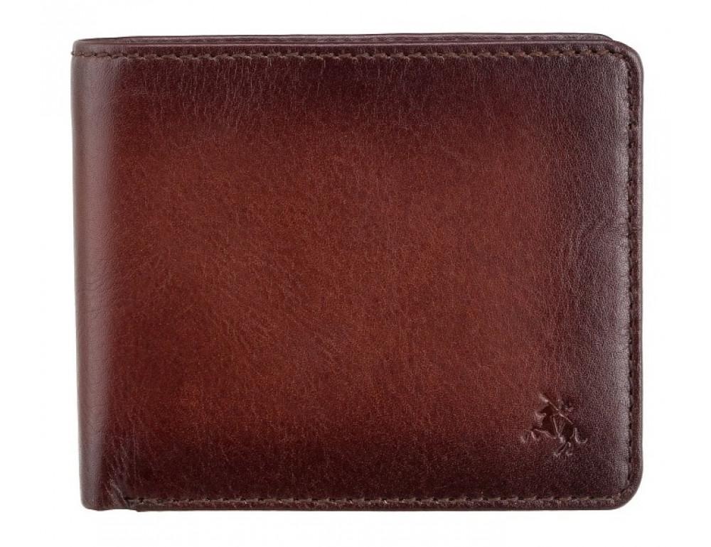 Стильный мужской портмоне Visconti AT58 B/TAN Milo c RFID коричневый - Фото № 1