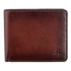 Стильный мужской портмоне Visconti AT58 B/TAN Milo c RFID коричневый