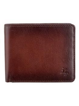 Стильний чоловічий гаманець Visconti AT58 B / TAN Milo c RFID коричневий