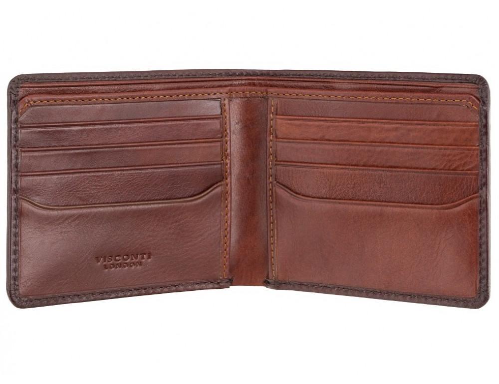 Стильный мужской портмоне Visconti AT58 B/TAN Milo c RFID коричневый - Фото № 2