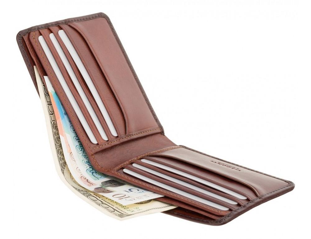 Стильный мужской портмоне Visconti AT58 B/TAN Milo c RFID коричневый - Фото № 3