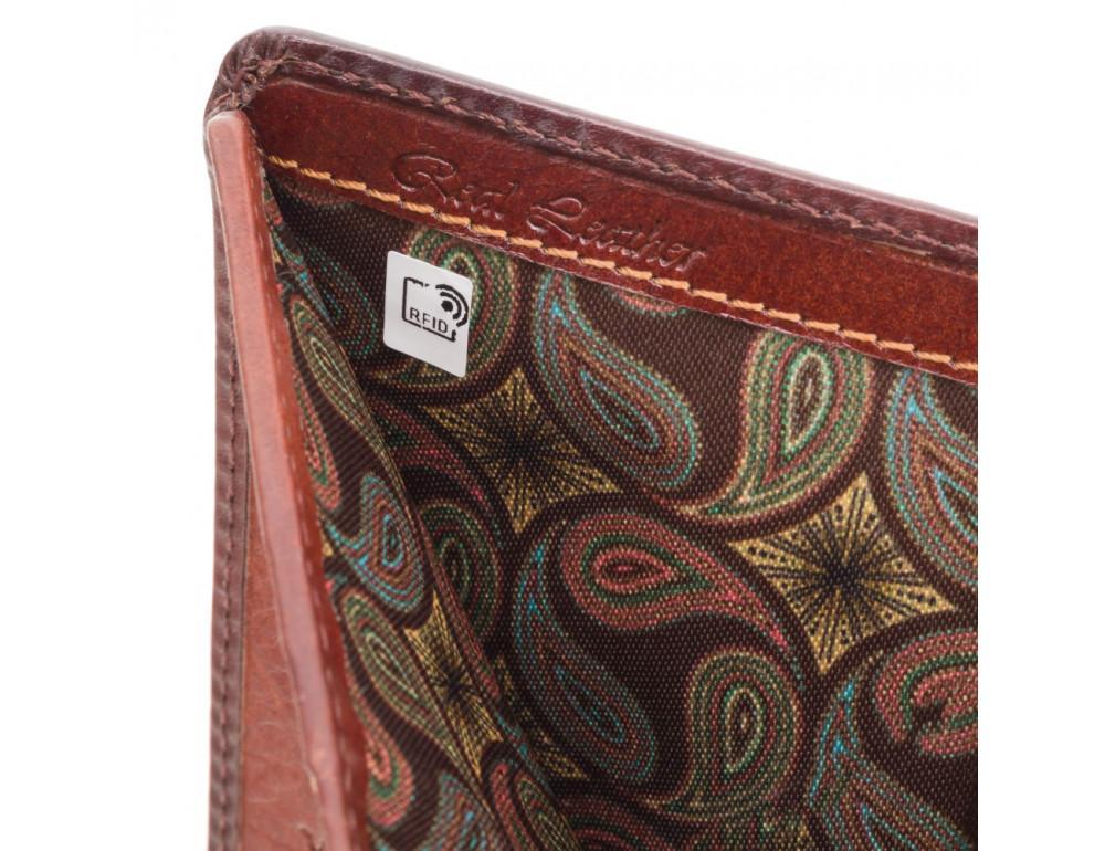 Стильный мужской портмоне Visconti AT58 B/TAN Milo c RFID коричневый - Фото № 5