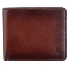 Стильный мужской портмоне Visconti AT60 B/TAN Milo c RFID коричневый