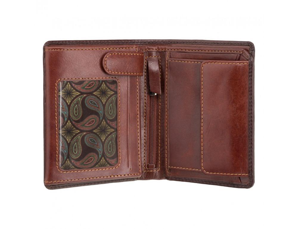 Коричневый кошелек мужской Visconti AT62 B/TAN David c RFID Burnish Tan - Фото № 2