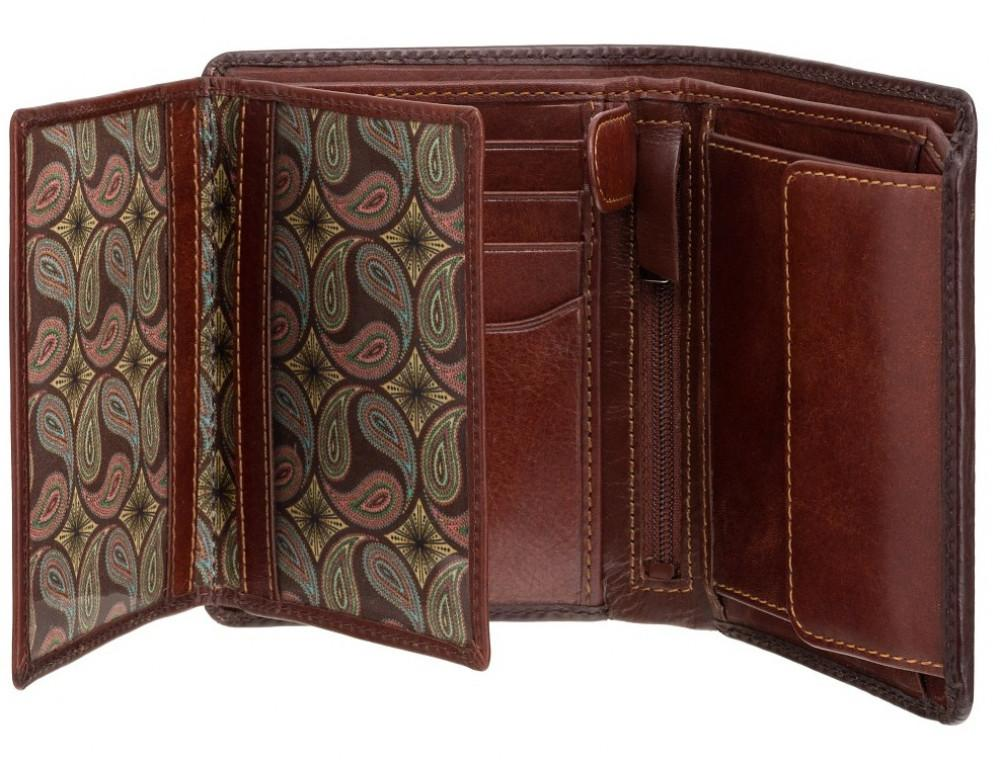 Коричневый кошелек мужской Visconti AT62 B/TAN David c RFID Burnish Tan - Фото № 4