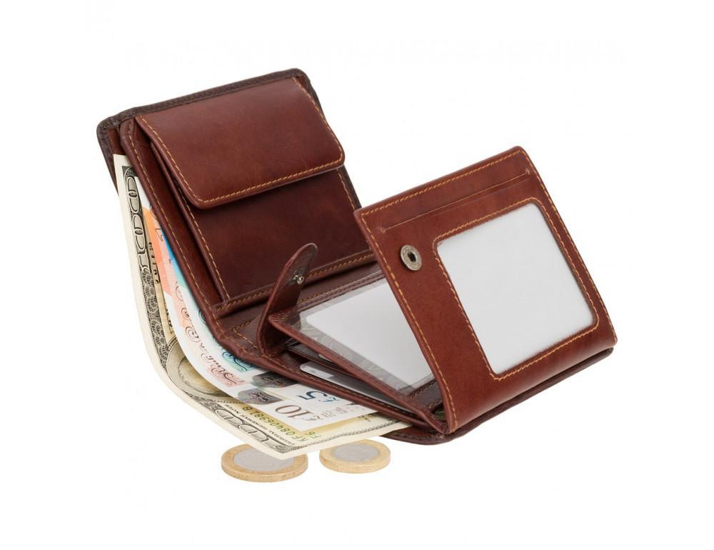 Коричневый кошелек мужской Visconti AT62 B/TAN David c RFID Burnish Tan - Фото № 5