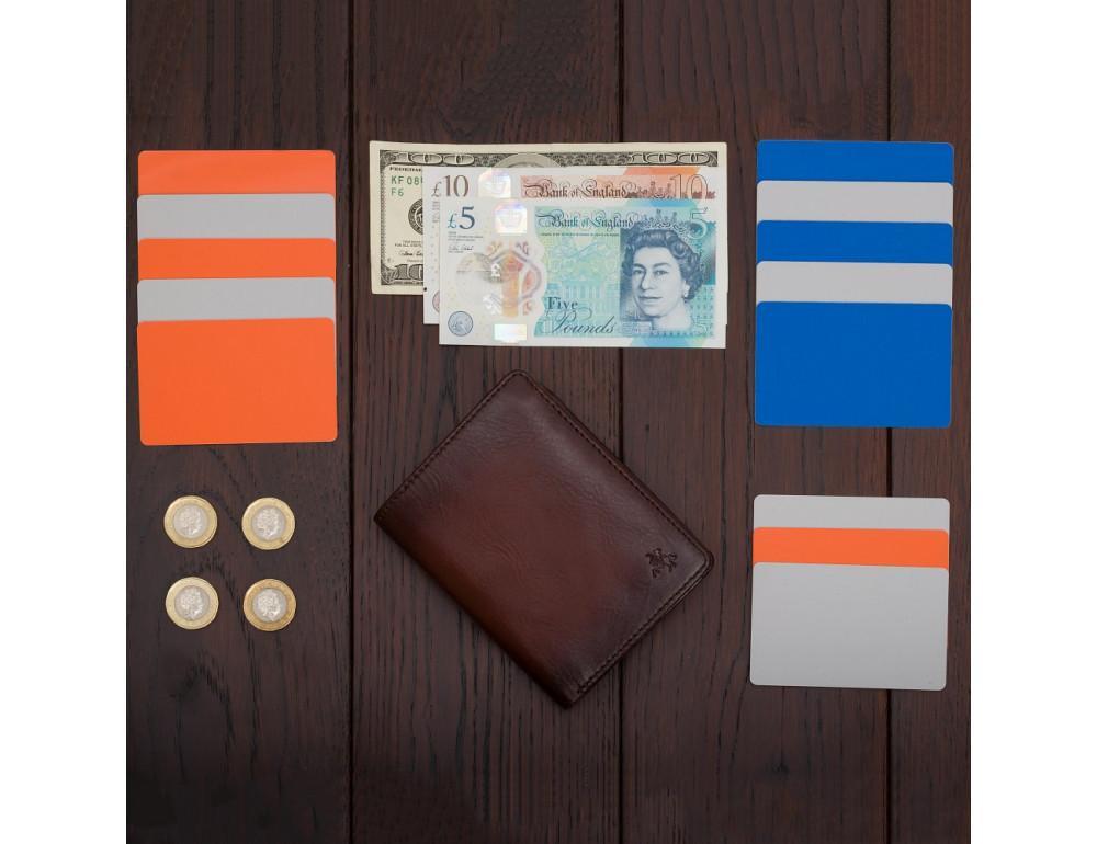Коричневый кошелек мужской Visconti AT62 B/TAN David c RFID Burnish Tan - Фото № 8