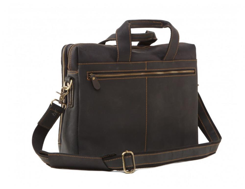 Мужская кожаная сумка TIDING BAG 7167A тёмно-коричневый - Фото № 4