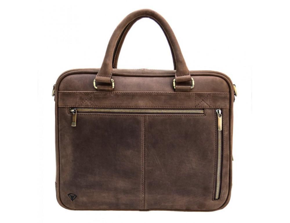 Мужской кожаный портфель Black Diamond BD2Ccrh коричневый - Фото № 9