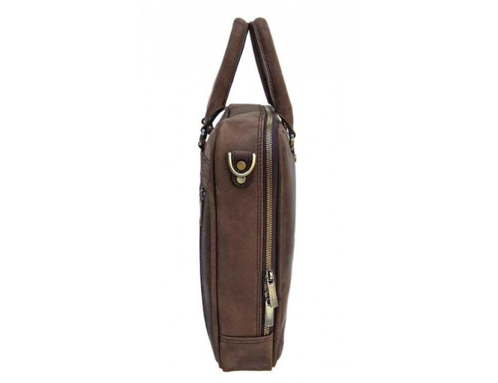 Мужской кожаный портфель Black Diamond BD2Ccrh коричневый - Фото № 8