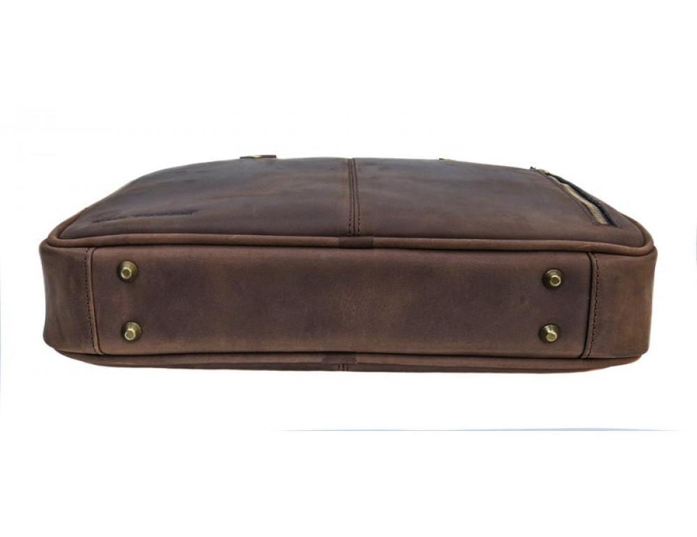 Мужской кожаный портфель Black Diamond BD2Ccrh коричневый - Фото № 7