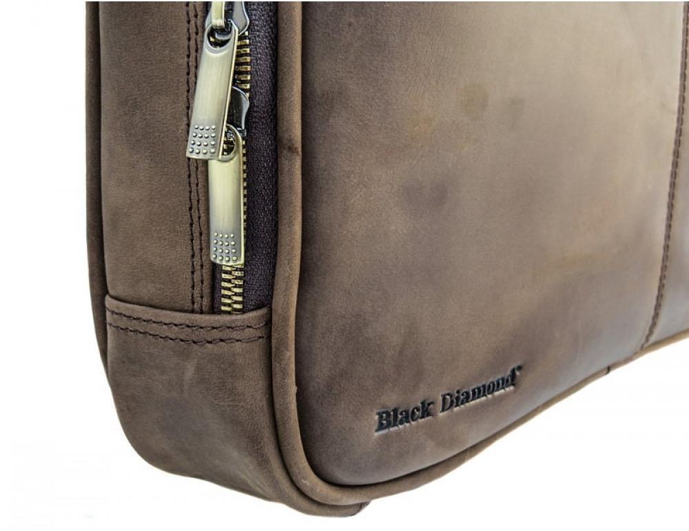 Мужской кожаный портфель Black Diamond BD2Ccrh коричневый - Фото № 4