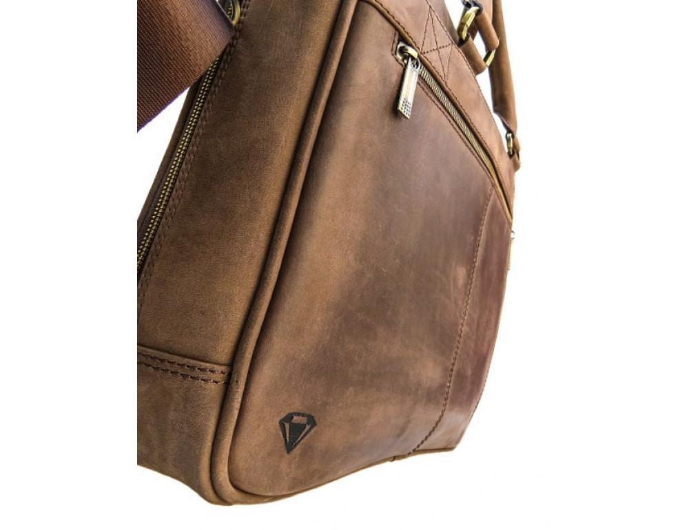 Мужской кожаный портфель Black Diamond BD2Ccrh коричневый - Фото № 3