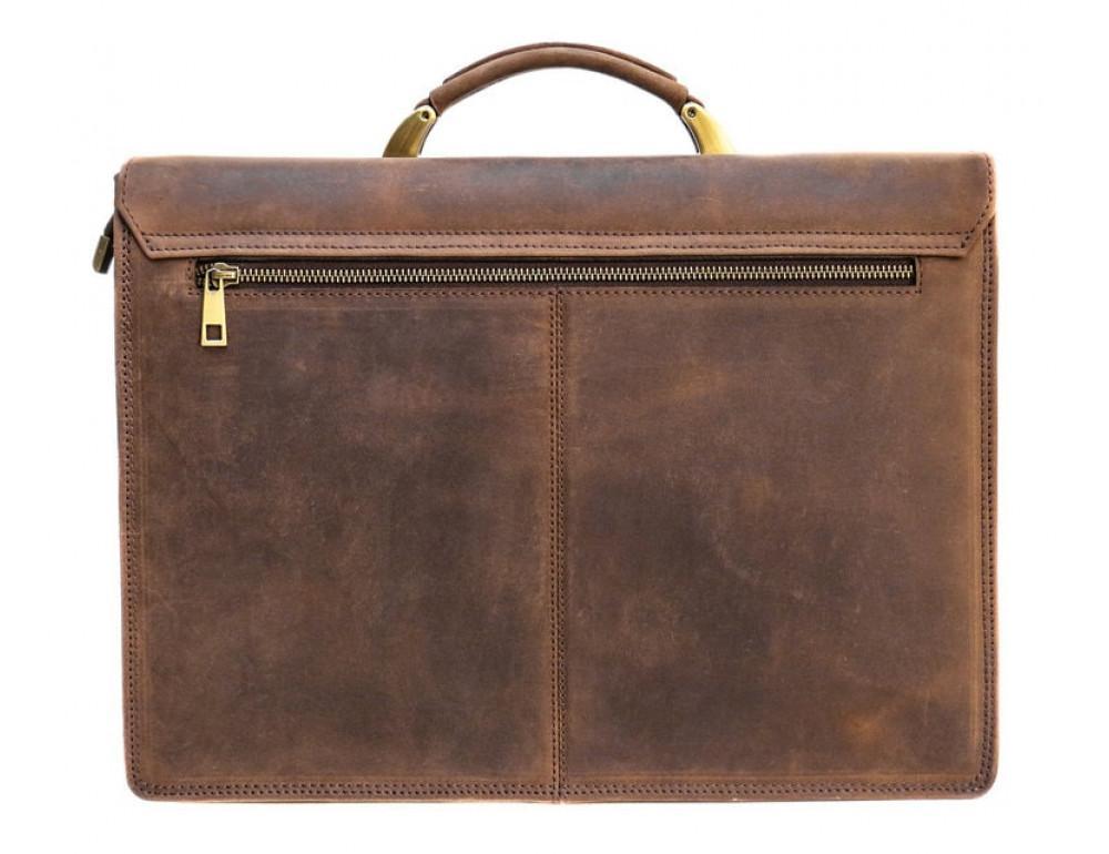 Мужской кожаный портфель Black Diamond BD50V2CCRH коричневый - Фото № 2
