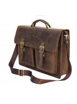 Мужской кожаный портфель Black Diamond BD50V2CCRH коричневый