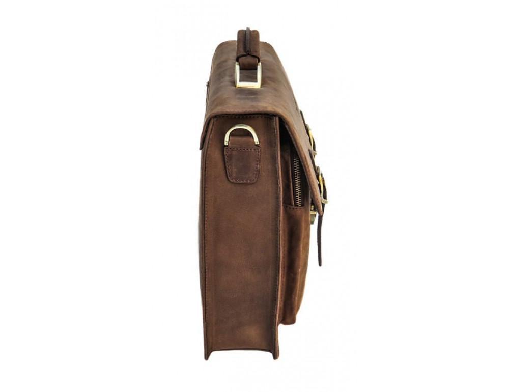 Мужской кожаный портфель Black Diamond BD50V2CCRH коричневый - Фото № 4