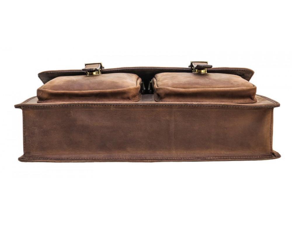 Мужской кожаный портфель Black Diamond BD50V2CCRH коричневый - Фото № 6