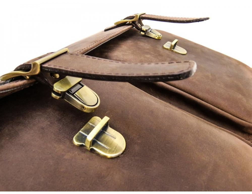 Мужской кожаный портфель Black Diamond BD50V2CCRH коричневый - Фото № 8
