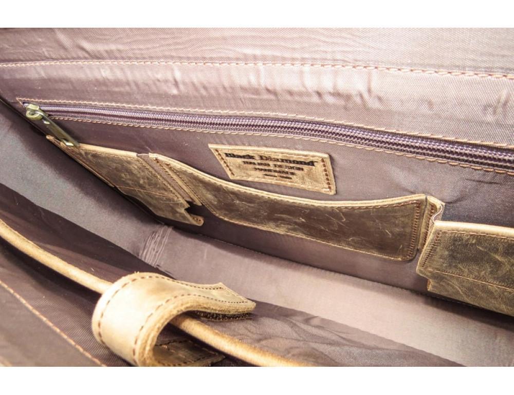 Мужской кожаный портфель Black Diamond BD50V2CCRH коричневый - Фото № 9