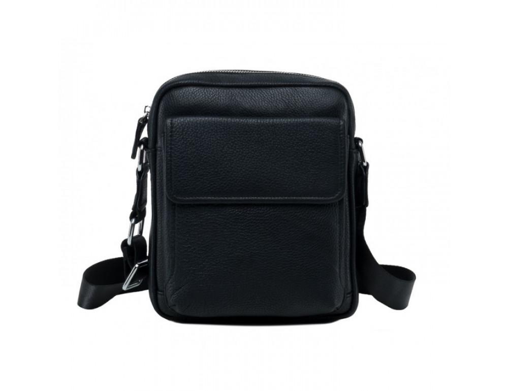 Мужской кожаный мессенджер TIDING BAG NA50-065A черный - Фото № 3
