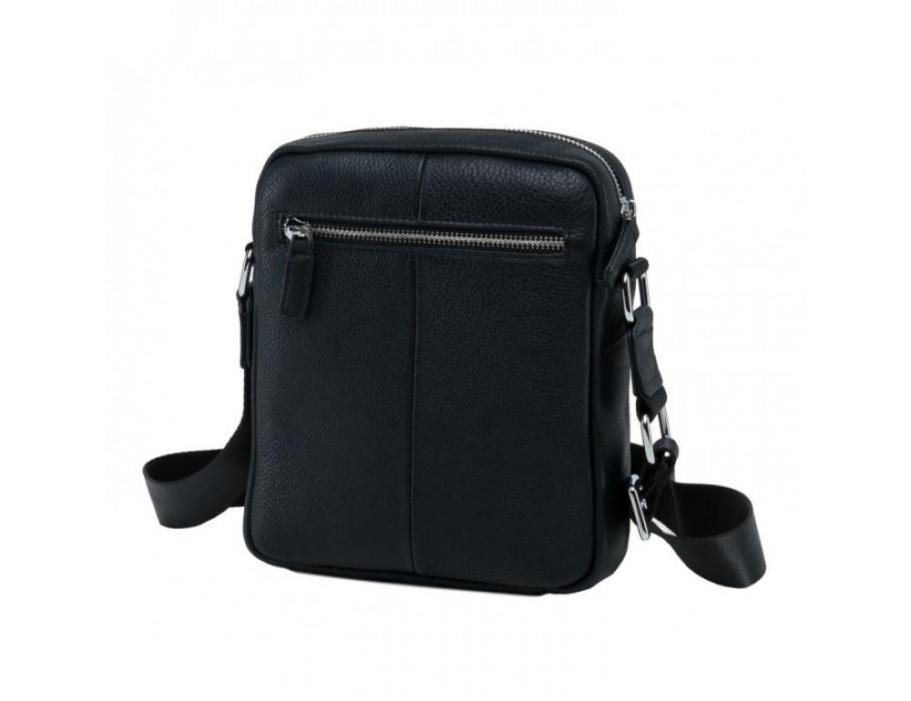 Мужской кожаный мессенджер TIDING BAG NA50-065A черный - Фото № 4