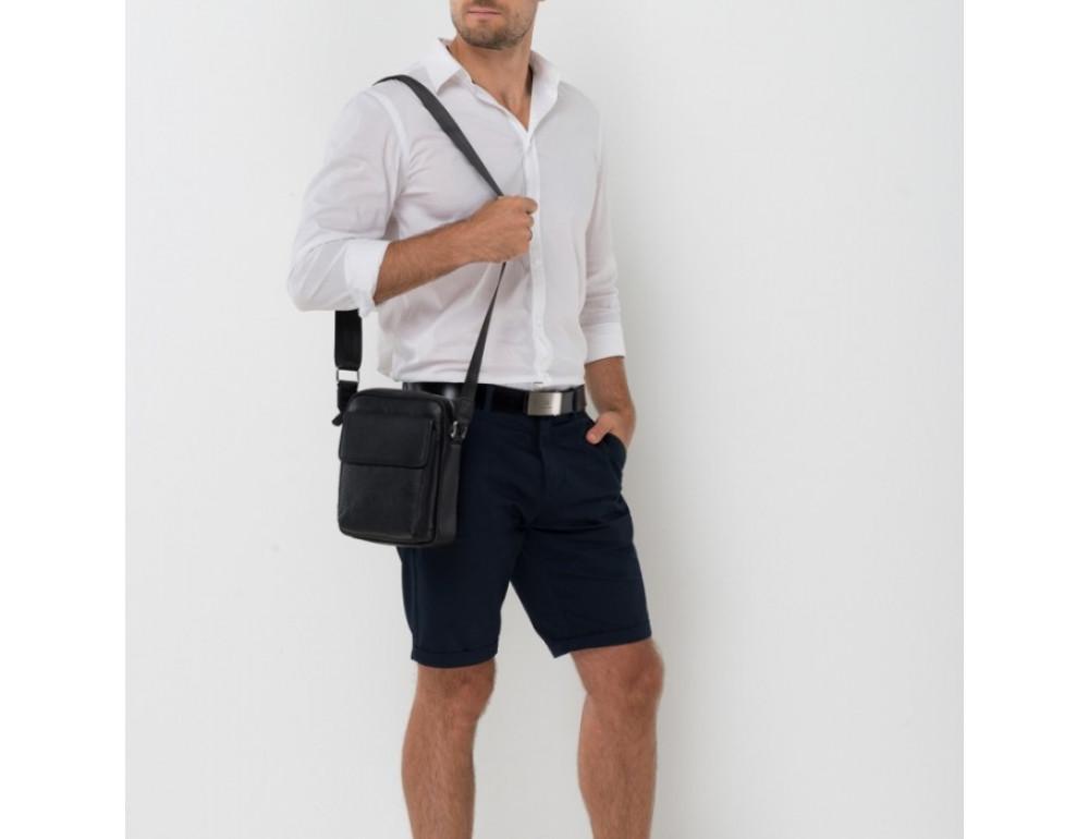 Мужской кожаный мессенджер TIDING BAG NA50-065A черный - Фото № 2
