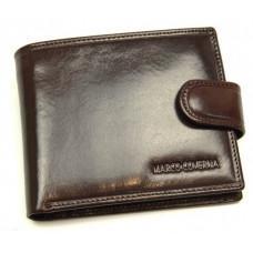 Мужское кожаное портмоне коричневого цвета Marco Coverna B047-801 brown