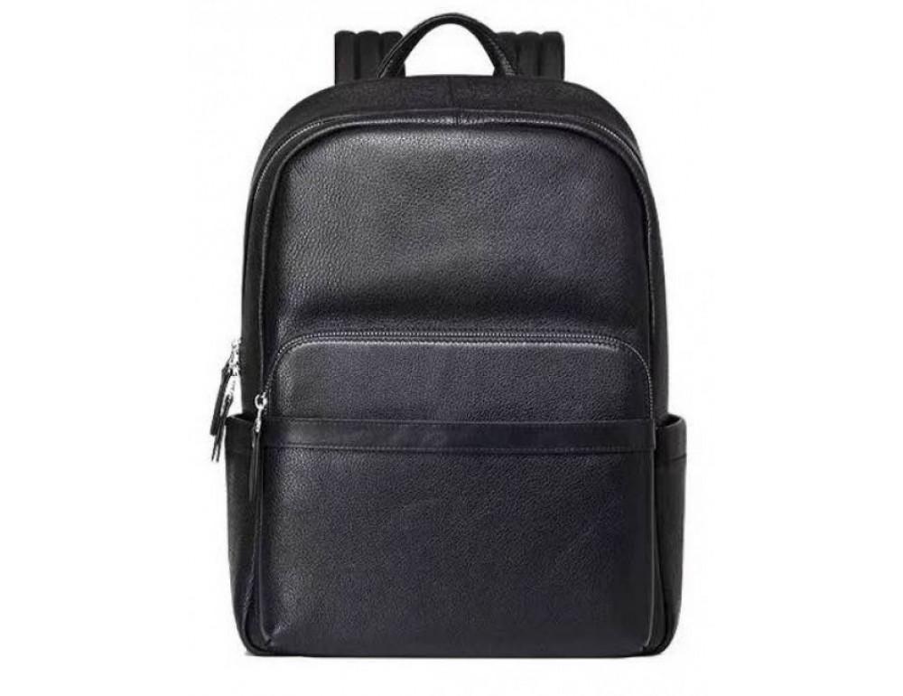 Чёрный кожаный рюкзак Tiding Bag B3-153A - Фото № 1