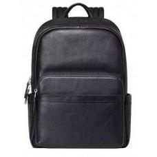 Чёрный кожаный рюкзак Tiding Bag B3-153A