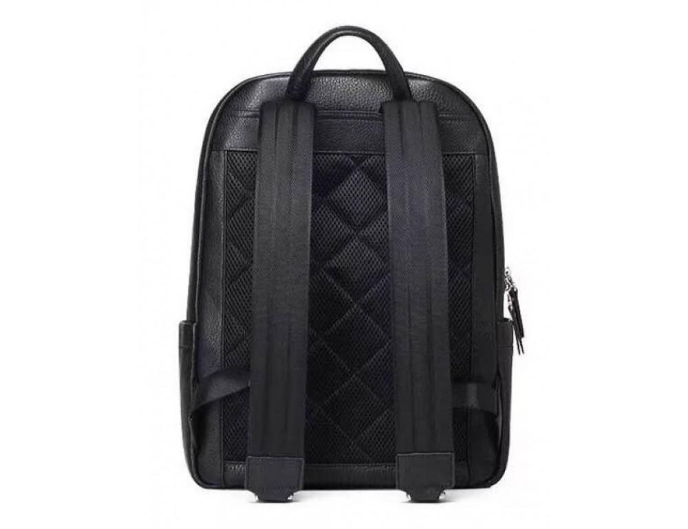 Чёрный кожаный рюкзак Tiding Bag B3-153A - Фото № 4