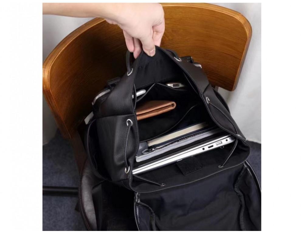 Стильный кожаный рюкзак мужской Tiding Bag B3-174A - Фото № 7