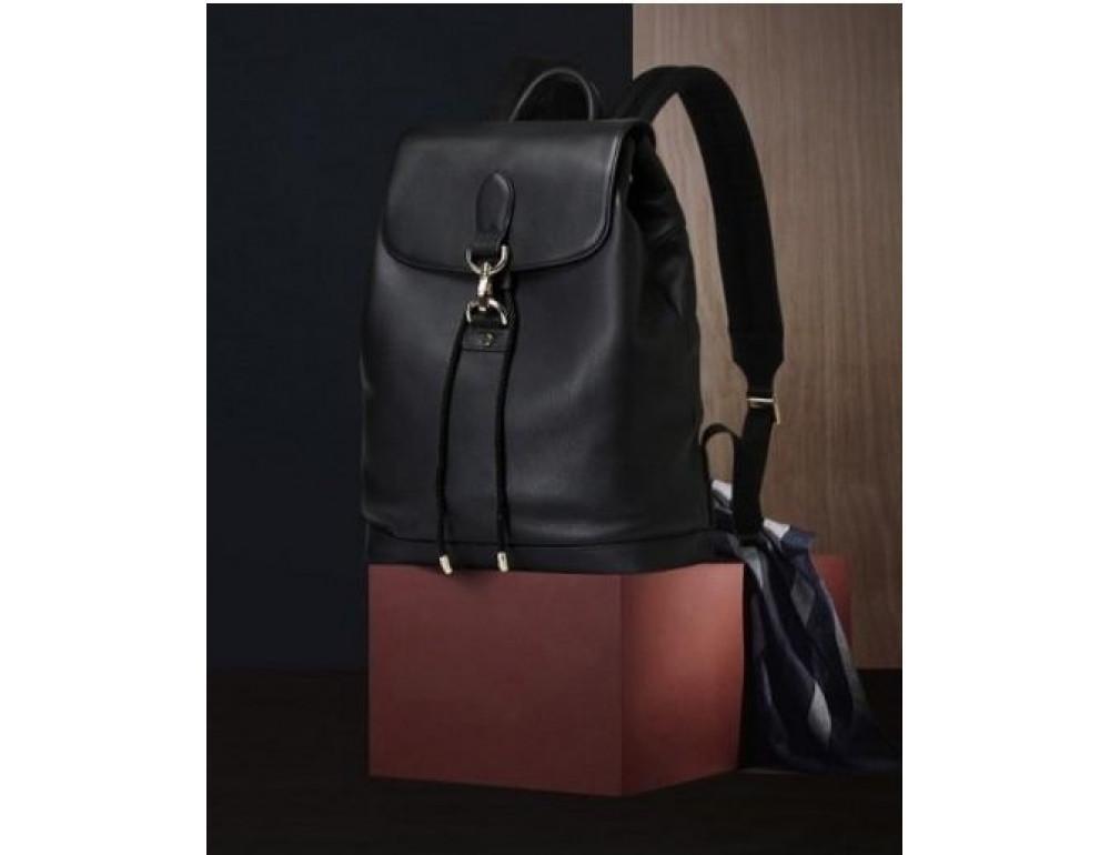 Рюкзак кожаный Tiding Bag B3-1899A чёрный - Фото № 9