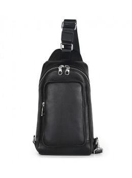 Мужской кожаный рюкзак на одно плечо Tiding Bag B3-2015-10A