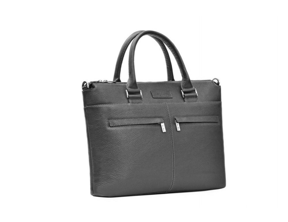 Мужская кожаная сумка под ноутбук Issa Hara B2A - Фото № 3