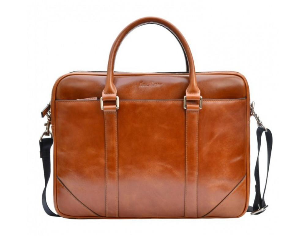 Мужская кожаная сумка Issa Hara B14C коричневая