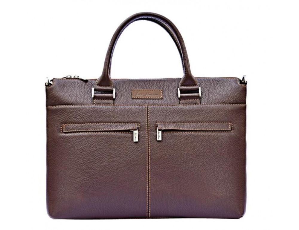 Чоловіча шкіряна сумка під ноутбук Issa Hara B2B