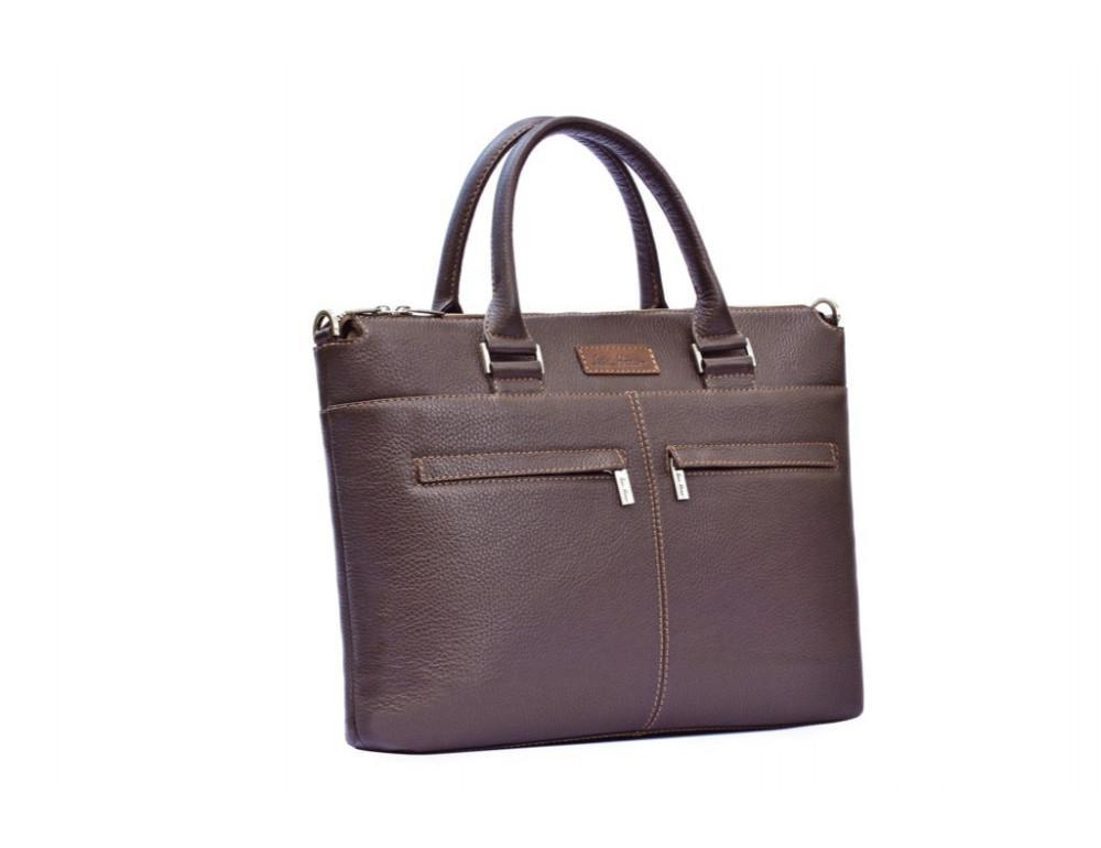 Мужская кожаная сумка под ноутбук Issa Hara B2B - Фото № 3