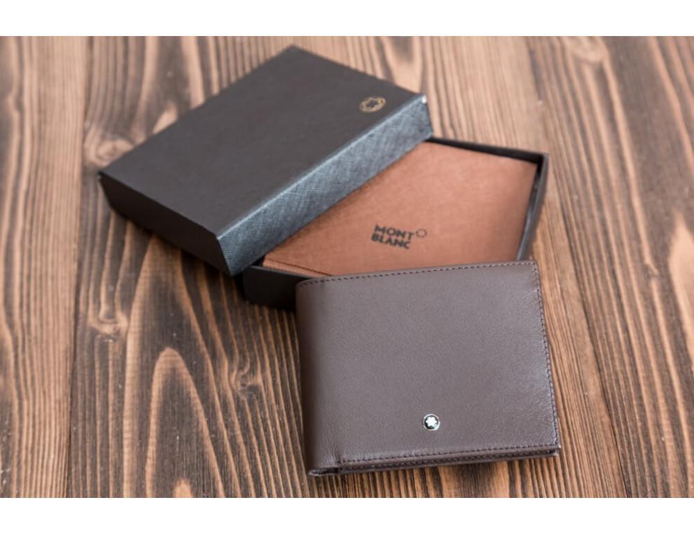 Мужской кожаный портмоне Montblanc MO-015C - Фото № 4