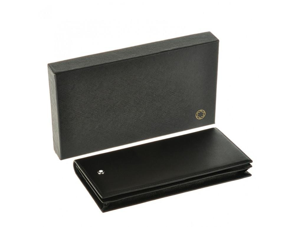 Мужской кожаный портмоне Montblanc 114535 чёрный - Фото № 7